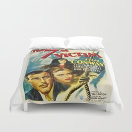 Vintage Movie Posters, The 7th Victim Duvet Cover