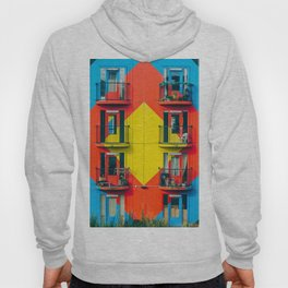 APARTMENTS - BLUE - RED - YELLOW - BALCONIES - PHOTOGRAPHY Hoody