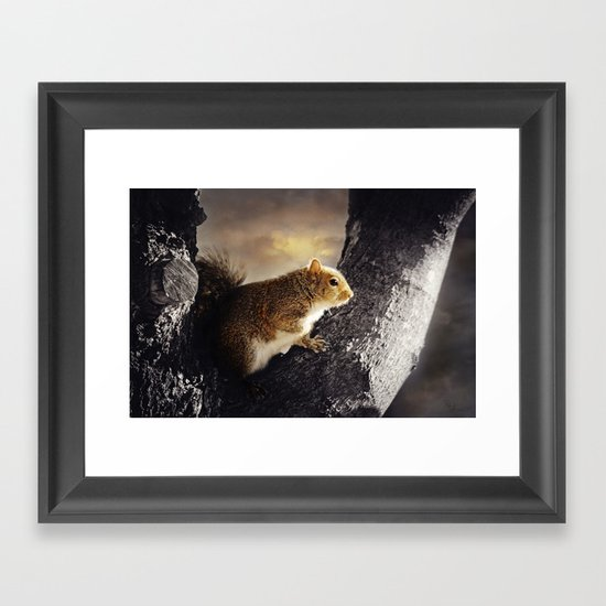 Soaking in the Sun Framed Art Print