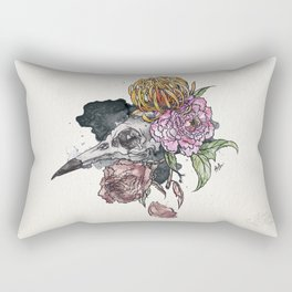 Bird Skull Garden Rectangular Pillow