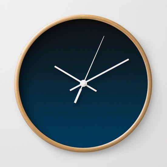 Cerulean Ombre Wall Clock