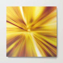 Radial blur:Golden Metal Print