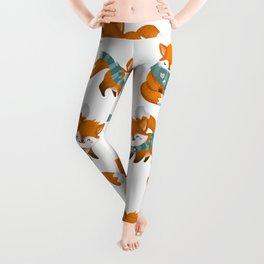 cute winter fox Leggings