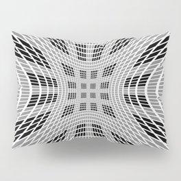 Starburst, black and white op art Pillow Sham