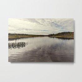 a simple autumn landscape Metal Print