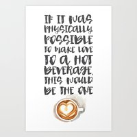 gilmore girls Art Prints featuring Gilmore Girls Typography // Coffee Love by Darling Vader