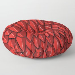 Red Dragon Scales Reptile Skin Floor Pillow