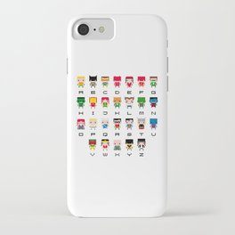 Superhero Alphabet iPhone Case