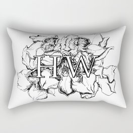 """HW"" Drawing Rectangular Pillow"