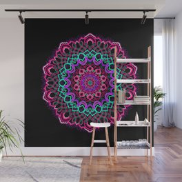 Project 208 | Colorful Mandala on Black Wall Mural