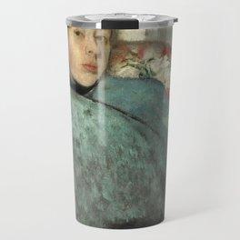 Portrait of Elena Carafa by Edgar Degas Travel Mug