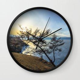 Harsh beauty of lake Baikal Wall Clock