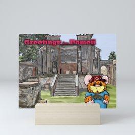 Herbert Hammy's Postcard from Pompeii (with wording) Mini Art Print