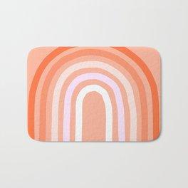 Rise above the Rainbow - Peachy pastels Bath Mat