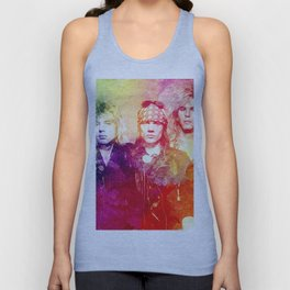GNR color full Unisex Tank Top