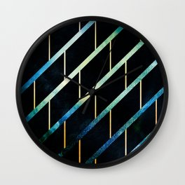 Slated for Storms Wall Clock