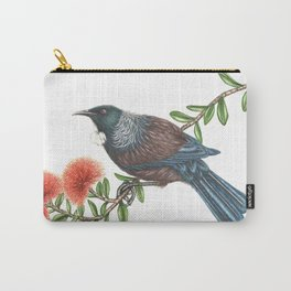 Tui on Pohutukawa Carry-All Pouch