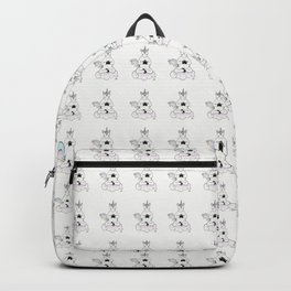 Meditating Unicorn Pattern White Backpack