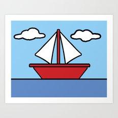 The Simpsons Sailboat Art Print