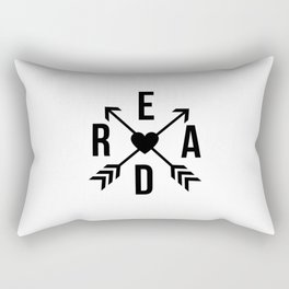 Read Crossed Arrows with Heart Rectangular Pillow