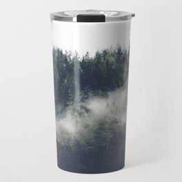 Abstract Forest Fog Travel Mug