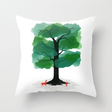 Man & Nature - The Tree of Life Throw Pillow