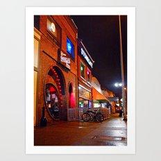South Tacoma night scene Art Print
