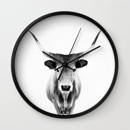 Honey - black and white Wall Clock