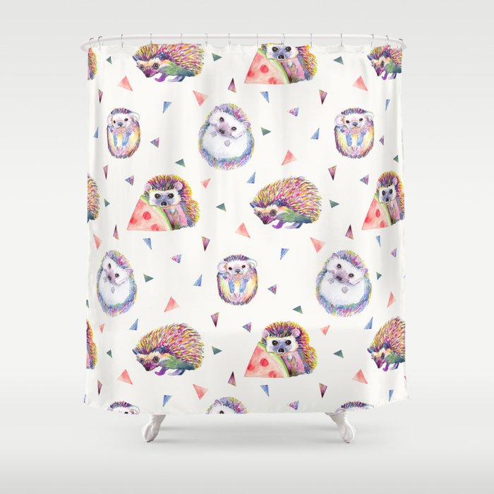 Baby Hedgehogs Shower Curtain
