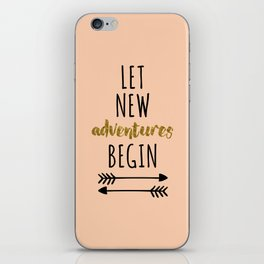 New Adventures Travel Quote iPhone Skin
