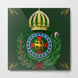 Dom Pedro II Coat of Arms Metal Print