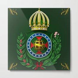 Dom Pedro II Coat of Arms Metal Print