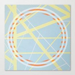crossroads ll - orangle circle graphic Canvas Print