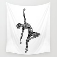 dancer Wall Tapestries featuring Dancer by Riaora Creations