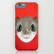 Cute baby Squirrel Bright Bold Colors Childrens decor Nursery Art Slim Case iPhone 6s