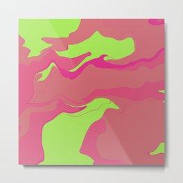 Abstract Desert Blues Pattern 37 Metal Print