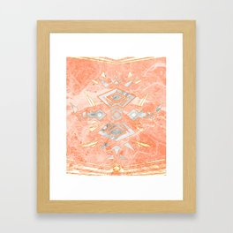 Sweet Pink Marble Design Framed Art Print
