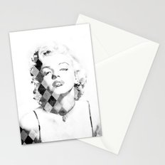 Marilyn Monroe Black and White Checkered Stationery Cards