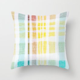 Happy Colors Throw Pillow