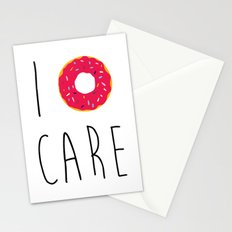 I Donut Care Funny Quote Stationery Cards