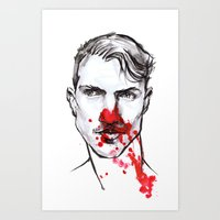 man with bloody nose 2 Art Print