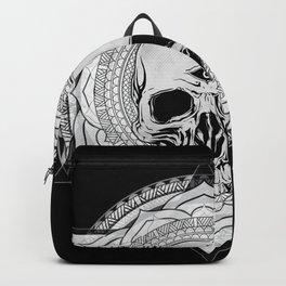 Life Touches The Seeker Ajna Skull Mandala Geometric Triangle Black Backpack