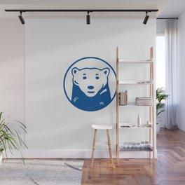 Blue Bear Wall Mural