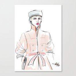 Rosie / Peach Trench Canvas Print