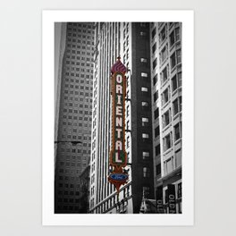 Oriental Theatre Black and White Chicago Photography Art Print