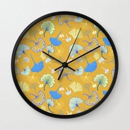 Ginkgo leaves Wall Clock