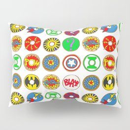 Superhero Donuts Pillow Sham