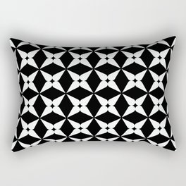 Geometric Pattern 247 (white crosses) Rectangular Pillow