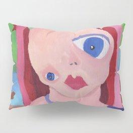 Mona Lisa Gets a Makeover Pillow Sham
