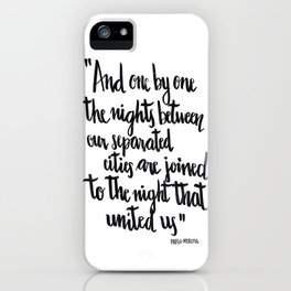 Neruda's nights iPhone Case